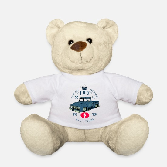Bikes Knuffeldieren - F100 Built Tough - Teddybeer wit