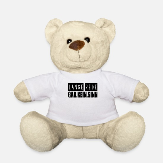 Sinn Teddy Bear Toys - Long speech makes no sense - Teddy Bear white