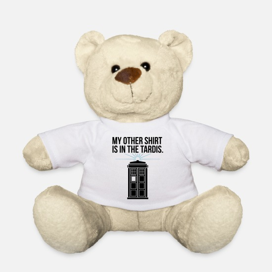 Doctor Who Peluches - My other shirt is in the Tardis - Ours en peluche blanc