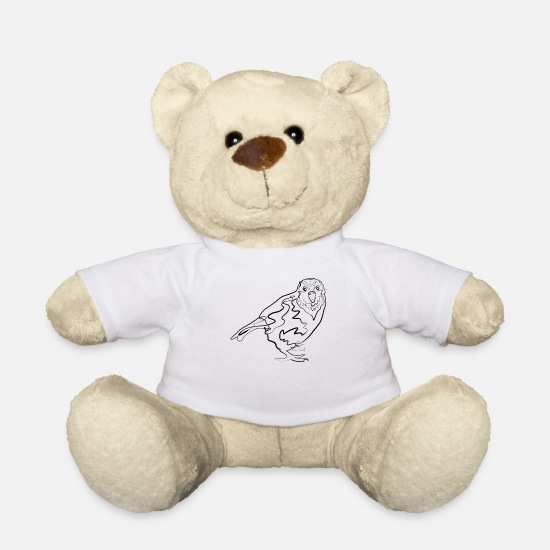 Drawing Teddy Bear Toys - Kakapo Australia - one line drawing - Teddy Bear white