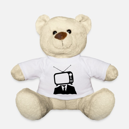 Boss Teddy Bear Toys - TV head - Teddy Bear white