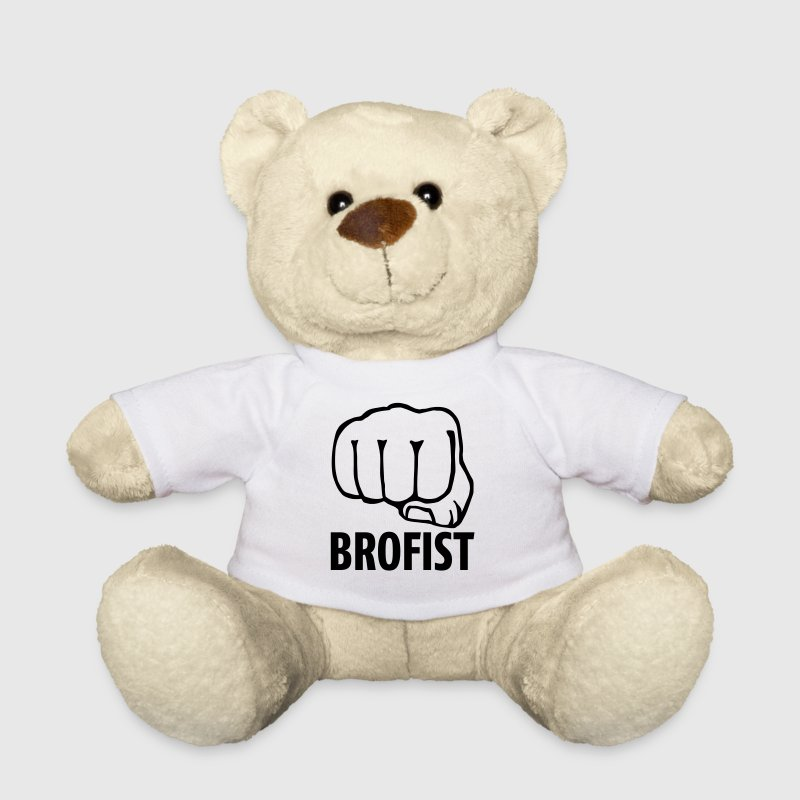brofist / bro fist / fist bump 1c - Teddy Bear