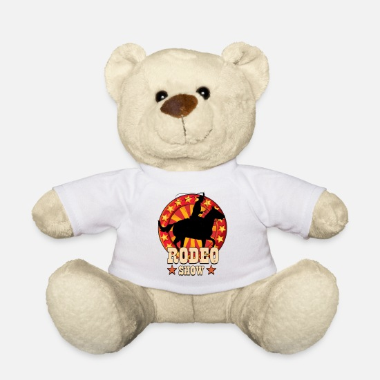 Shower Teddy Bear Toys - Rodeo Show - Teddy Bear white