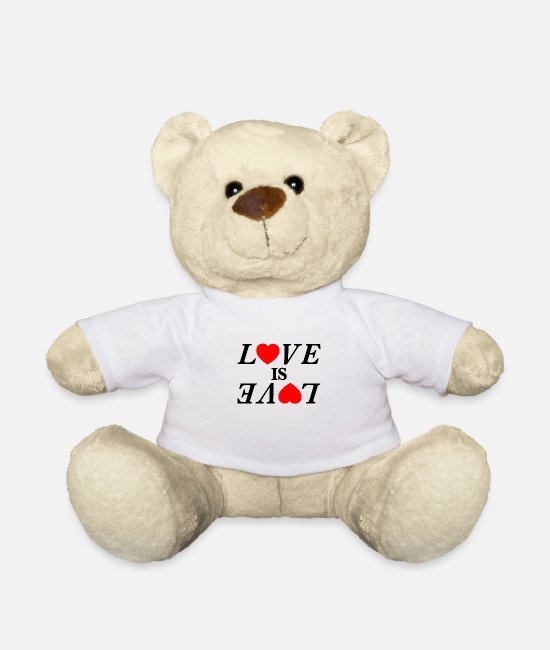 Heart Teddy Bear Toys - Love is Love Love is love - Teddy Bear white