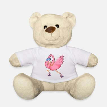 Water dabbing flamingo funny party bird - Teddy Bear