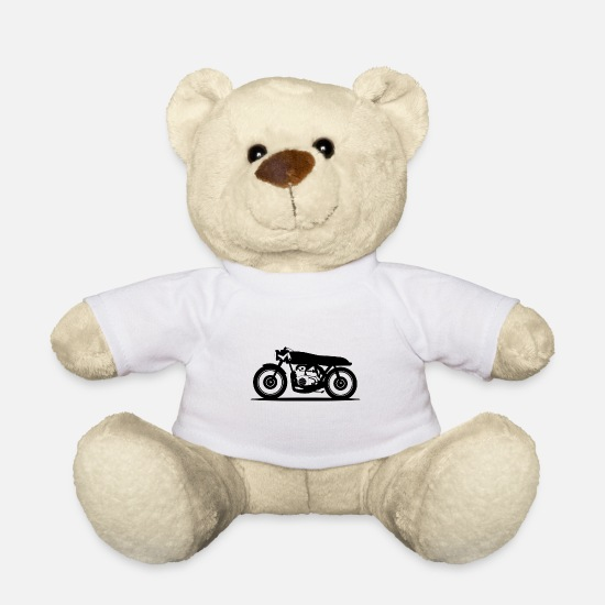 Motorcycle Teddy Bear Toys - motorcycle - Teddy Bear white