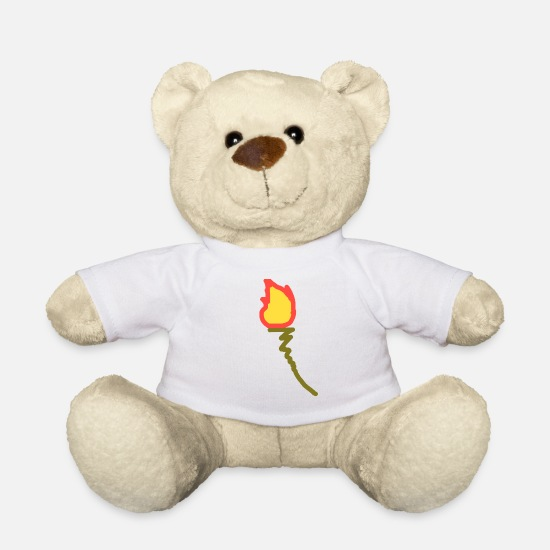 Birthday Teddy Bear Toys - Torch christmas halloween gift cool kids - Teddy Bear white