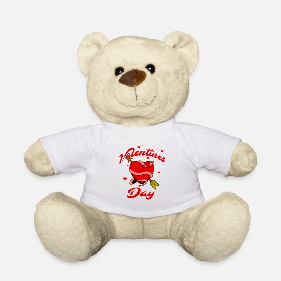 Love Teddy Bear Toys - Valentines Day, gift for women and girls - Teddy Bear white