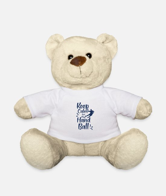 Handball Player Teddy Bear Toys - Handball Handball Handball Handball - Teddy Bear white