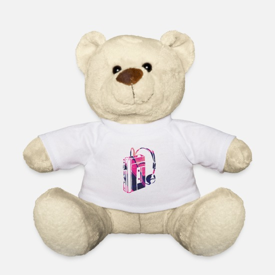 Birthday Teddy Bear Toys - personal stereo - Teddy Bear white