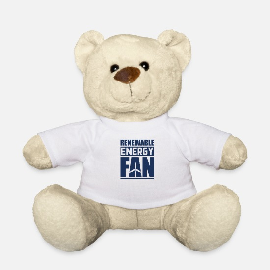 Clean Teddy Bear Toys - Renewable energy - Teddy Bear white