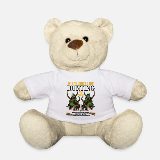Gift Idea Teddy Bear Toys - Hunter Statement Funny Sayings Cool Hunt Gift - Teddy Bear white