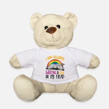 Author Writer statement saying author gift - Teddy Bear
