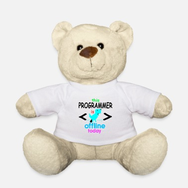 Mathematics Programmer coder software developer computer - Teddy Bear