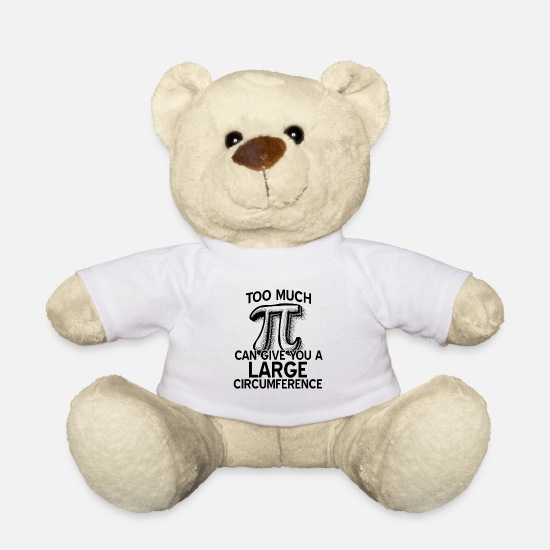 Maths Teddy Bear Toys - Pi Pi Day Mathematics Numbers Rounded mathematicians - Teddy Bear white