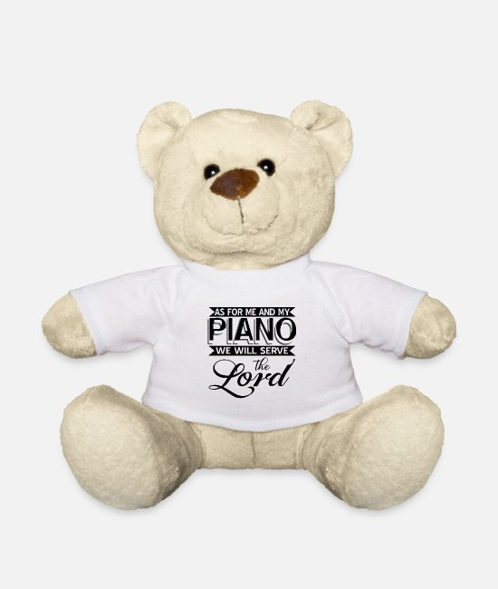 Piano Knuffeldieren - Piano - Teddybeer wit