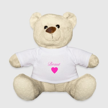 Hen-party Bride with heart - hen party - Teddy Bear