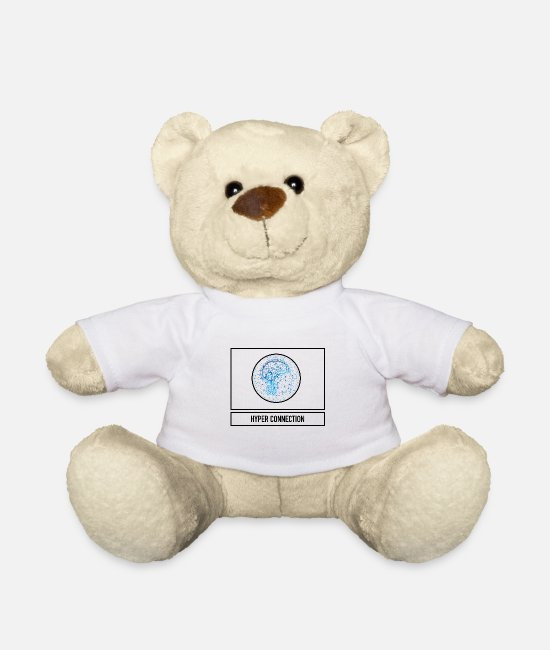 Geek Teddy Bear Toys - Connection in the brain through technology as a gift - Teddy Bear white