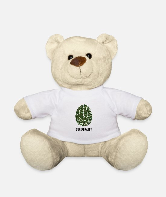 Geek Teddy Bear Toys - Brain as a board - geschnek computer scientist tech - Teddy Bear white