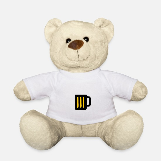 Chemistry Teddy Bear Toys - A cold beer in the beer garden - Teddy Bear white