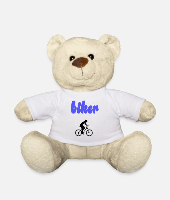 Bless You Teddy Bear Toys - biker - Teddy Bear white