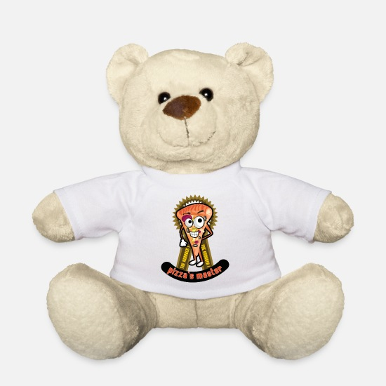 Love Teddy Bear Toys - Pizza cuts as a cartoon character - Teddy Bear white