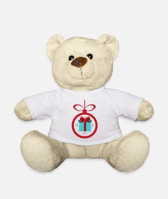 Christmas Teddy Bear Toys - Christmas present - Teddy Bear white