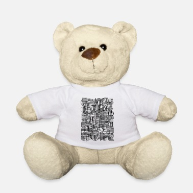 Square Pattern (Simple Form) - Teddy Bear