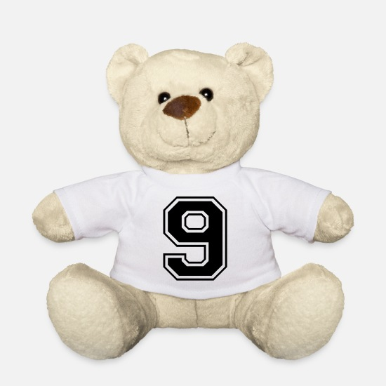 Number Teddy Bear Toys - 9, nine, number, number - Teddy Bear white