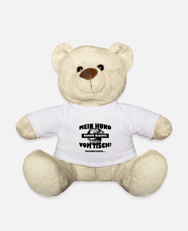 Aussie Teddy Bear Toys - Funny dog saying dog owner gift - Teddy Bear white