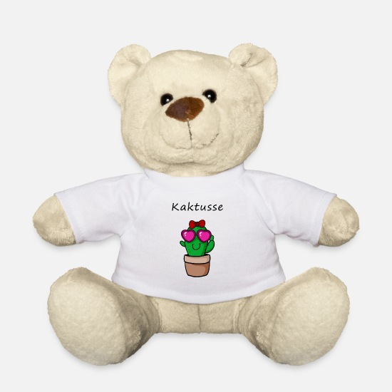 Gift Idea Teddy Bear Toys - cactuses - Teddy Bear white