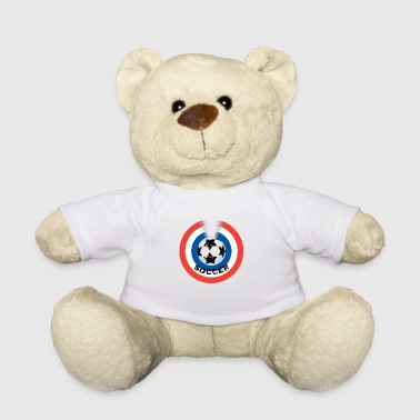 Football blue white red - Teddy Bear