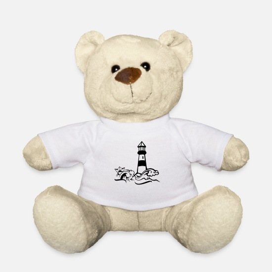 Skipper Teddy Bear Toys - Lighthouse paper ship - Teddy Bear white