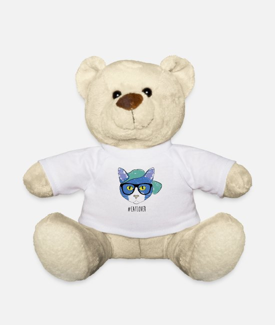 Animal Liberation Teddy Bear Toys - #CatLover - Teddy Bear white