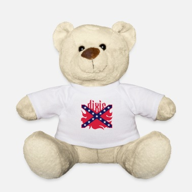 Dixie Dixie (US South, Rebel, Confederate) Flag 3 Colors - Teddy Bear