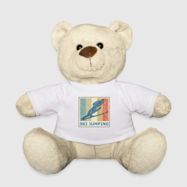 Vintage retro ski long jump ski flying ski jumping - Teddy Bear