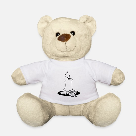 Gift Knuffeldieren - Advent - Teddybeer wit