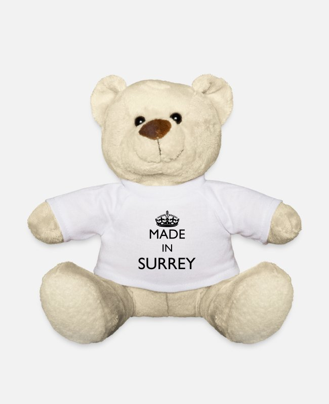 Personalised Teddy Bear Toys - Personalise: Made In Surrey - Teddy Bear white