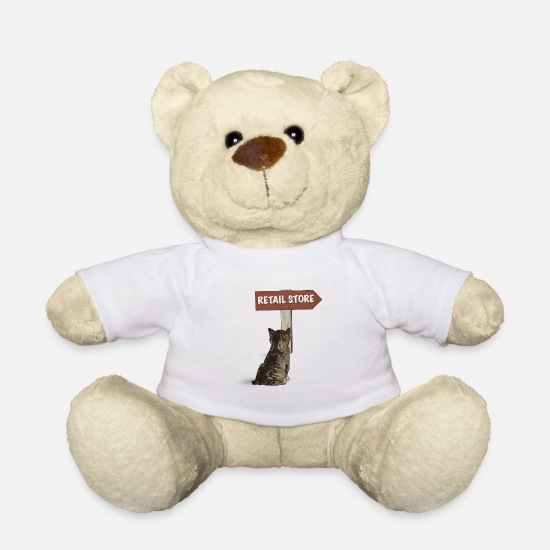 Animal Lover Teddy Bear Toys - Re-tail Store - Teddy Bear white
