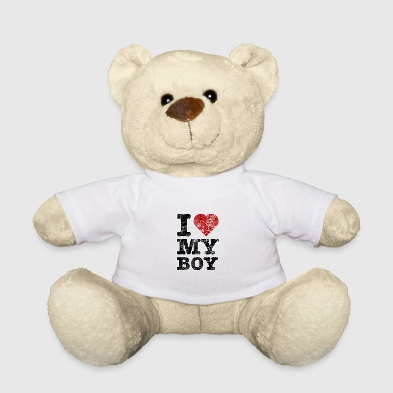 I Love my Boy vintage dark - Teddy Bear