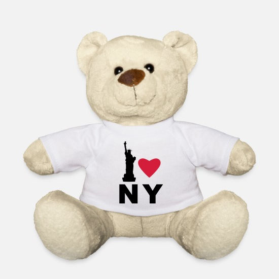 Love Peluche - I love New York - Orsetto bianco