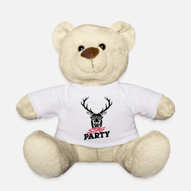 Night Stag Party - Black Design - Teddy Bear
