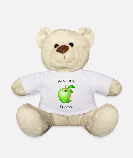 Vegetables Teddy Bear Toys - 100% GREEN- 100% VEGAN - Teddy Bear white
