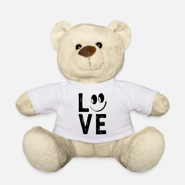 Love With Heart Love Smile Love Hearts Hearts Laugh Happy - Teddy Bear