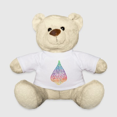 Leaf gradient watercolor colorful gift idea - Teddy Bear