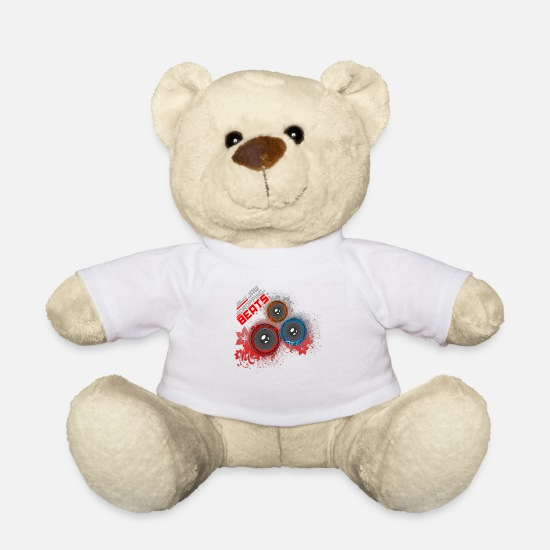 Graffiti Teddy Bear Toys - Jaw Dropping Beats DJ - Teddy Bear white