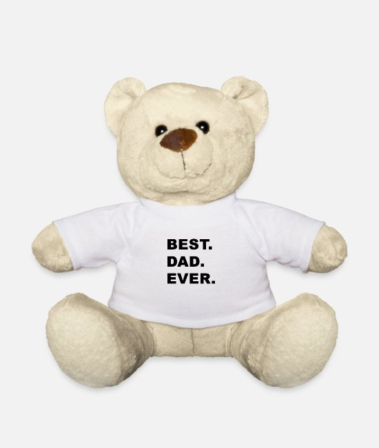 Father's Day Teddy Bear Toys - Best. Dad. Ever. - Teddy Bear white