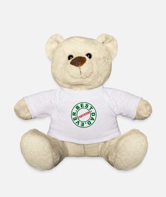 Father And Son Teddy Bear Toys - Best. Dad. Ever. - Teddy Bear white