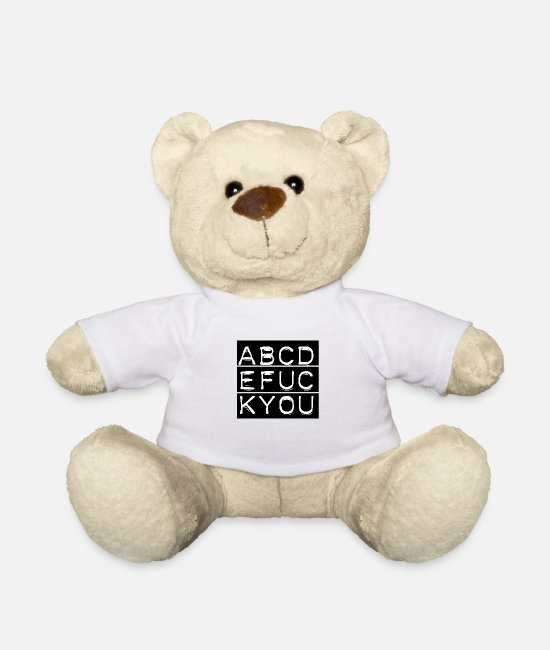 Design Teddy Bear Toys - ABC - Teddy Bear white