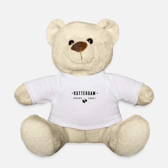 Typography Teddy Bear Toys - Rotterdam - Teddy Bear white